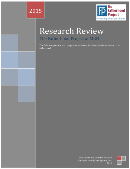 The Fatherhood Project's Research Review